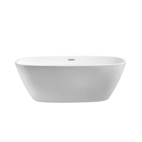 59 x 28.3 Freestanding Soaking Bathtub by Wildon Home ®