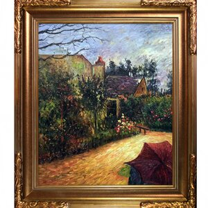 Pissarro's Garden, Pontoise 1881' by Paul Gauguin Framed Painting on Canvas by Tori Home