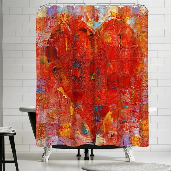 Michael Creese Patchwork Heart Shower Curtain by East Urban Home