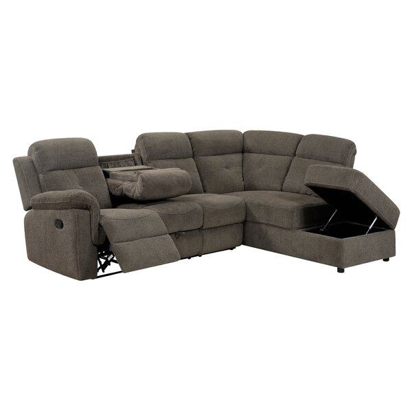 Temme Contemporary Reclining Sectional by Millwood Pines