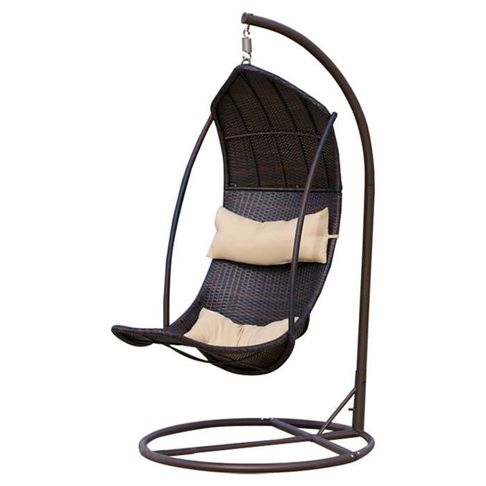 Moorea Wicker Swing Chair With Stand