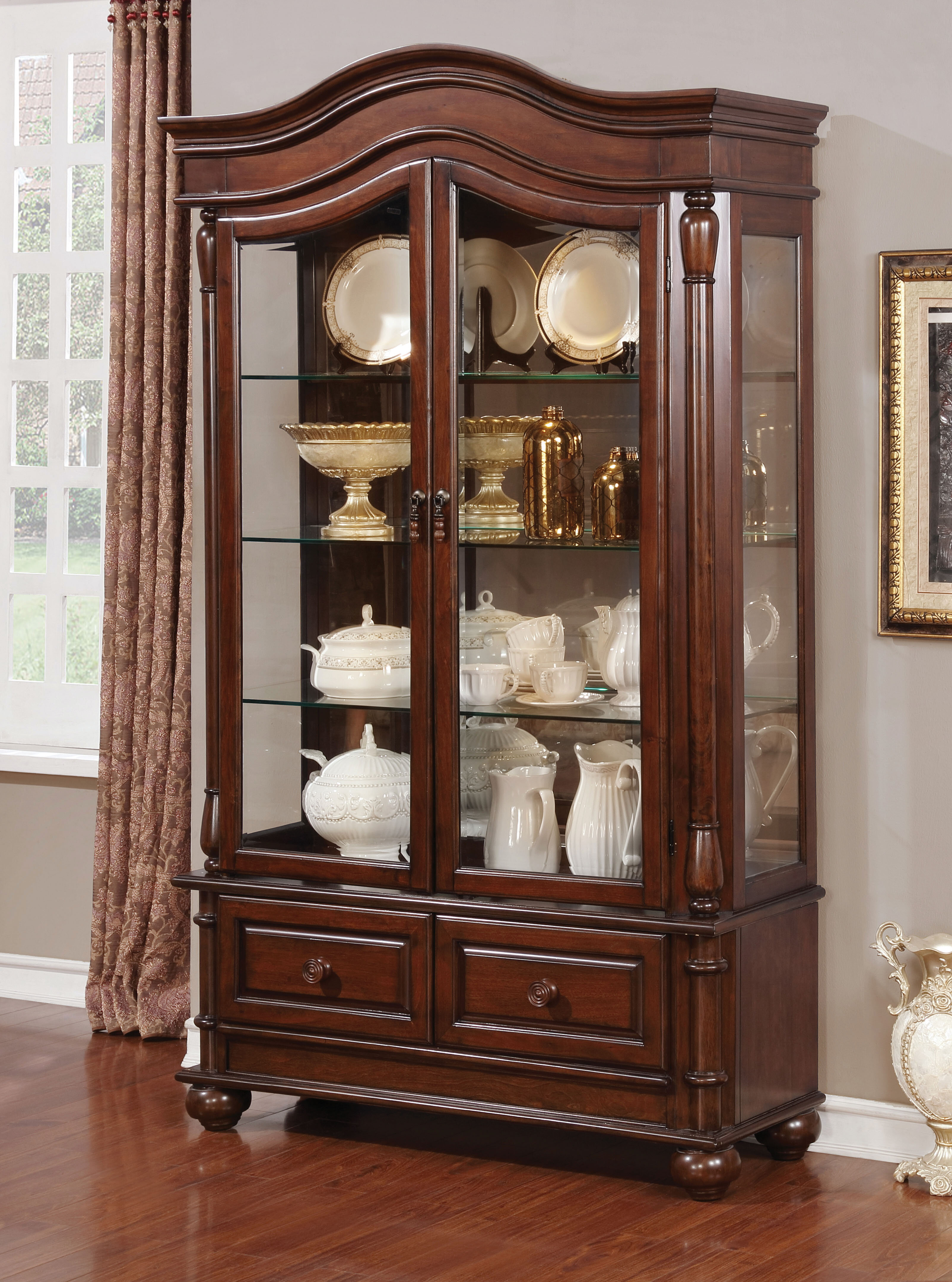 Alcott Hill Hirano Traditional Dining Hutch Wayfair