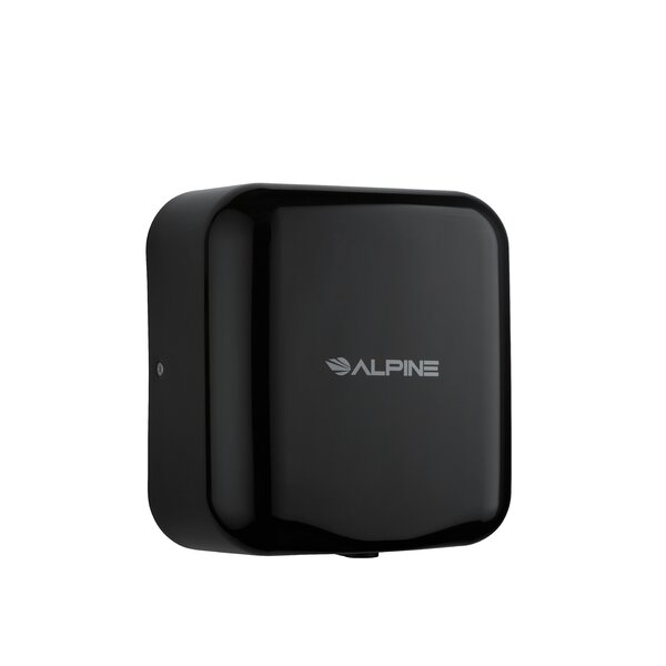 Hemlock 110 Volt Hand Dryer in Black by Alpine Industries