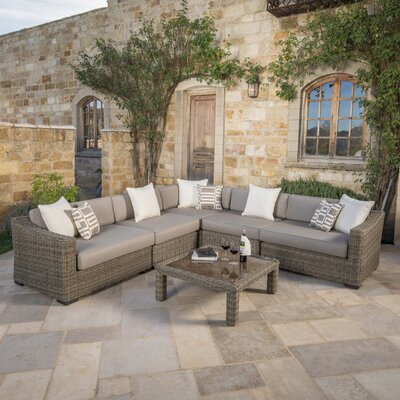 Darby Home Sunbrella Sectional Set Cushions Seating Groups