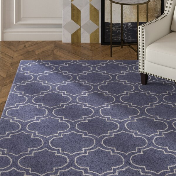 Shandi Hand-Tufted Periwinkle Area Rug by Mercer41