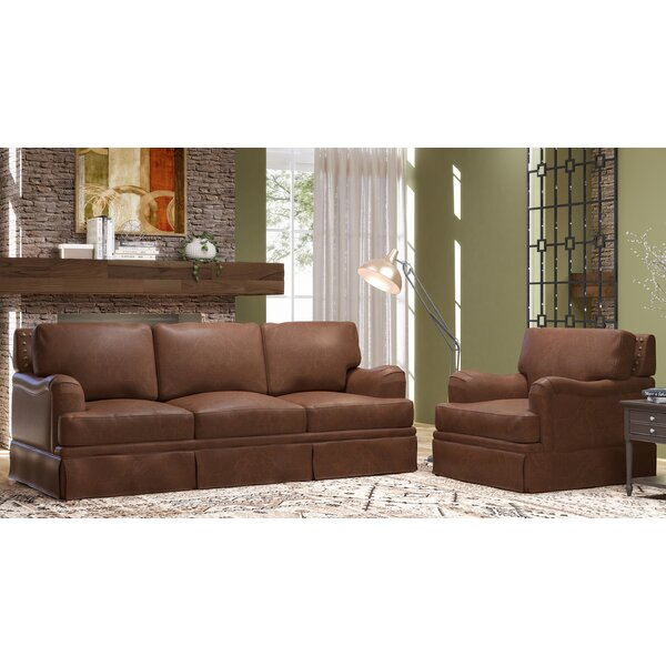 Alto 2 Piece Leather Living Room Set by Westland and Birch
