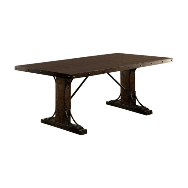 Makenna Traditional Solid Wood Dining Table by Fleur De Lis Living