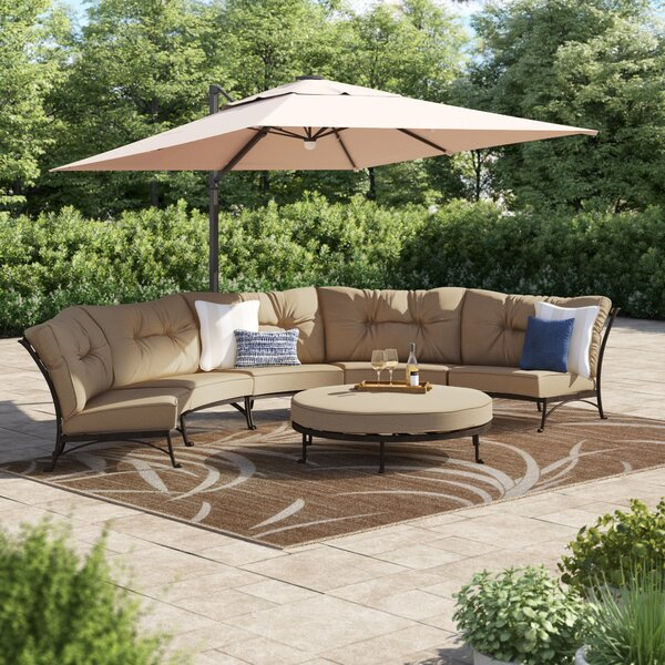 Lanesville 6 Piece Sectional Seating Group with Cushions by Darby Home Co