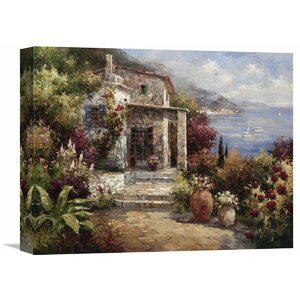 'Monterosso Villa' by Alphonse Painting Print on Wrapped Canvas by Global Gallery