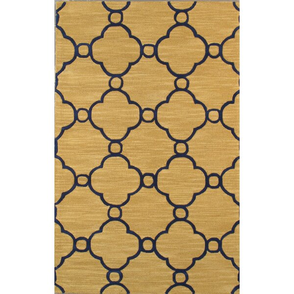 Venice Hand Tufted Transitional Gold Area Rug by Pasargad