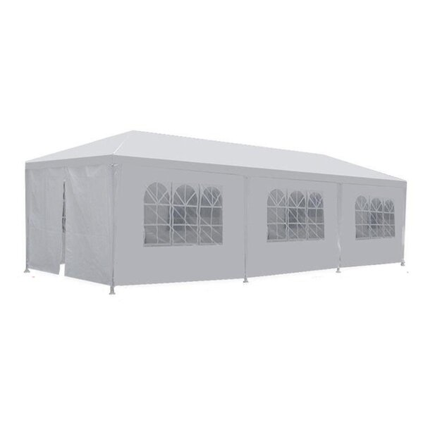 Alvin 10 Ft. W x 30 Ft. D Steel Party Tent by Freeport Park