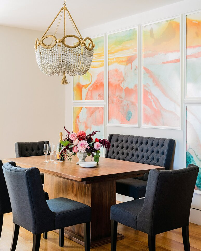 Good Colorful Dining Room Chandelier