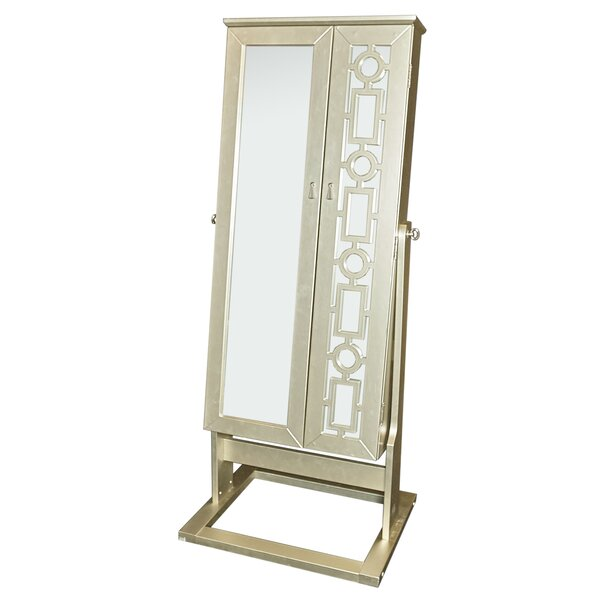 Cristobal Cheval Jewelry Armoire with Mirror by Darby Home Co