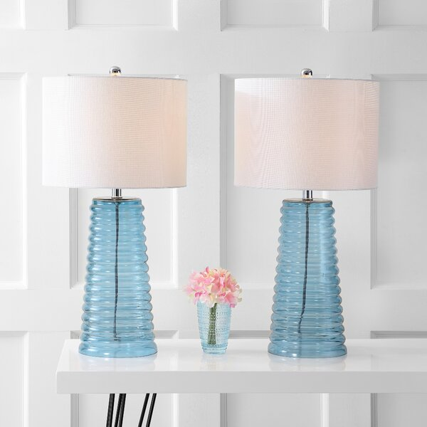 Yantley 28 Table Lamp with Drum Shade (Set of 2) by Safavieh