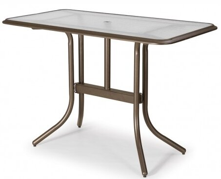 Glass Top Rectangular Bar Table by Telescope Casual