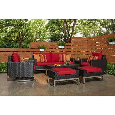 Wade Logan Motion Rattan Sunbrella Sofa Set Cushions Cushion Color Seating Groups