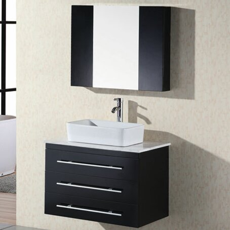 Newcastle 30 Single Bathroom Vanity Set with Mirro
