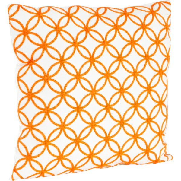 Infinity Design Embroidered Cotton Throw Pillow by Saro