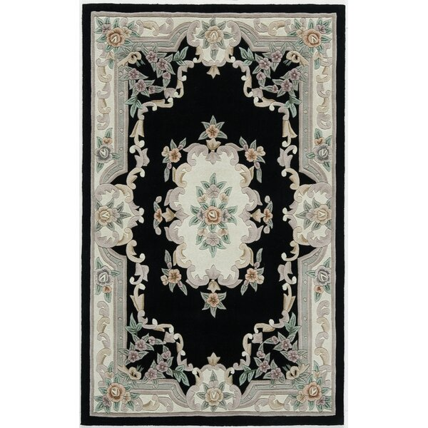 Hand-Tufted Wool Black/Gray Area Rug by The Conestoga Trading Co.