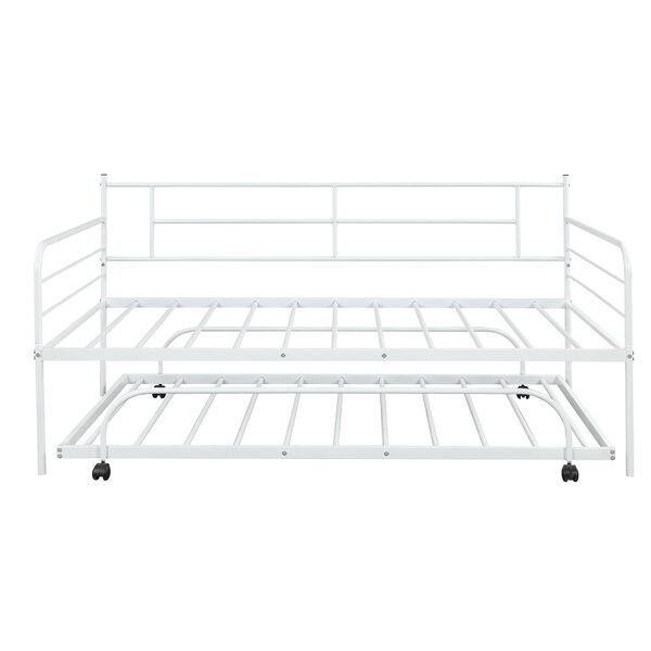 Twin Metal Daybed with Trundle by Red Barrel Studio Red Barrel Studio