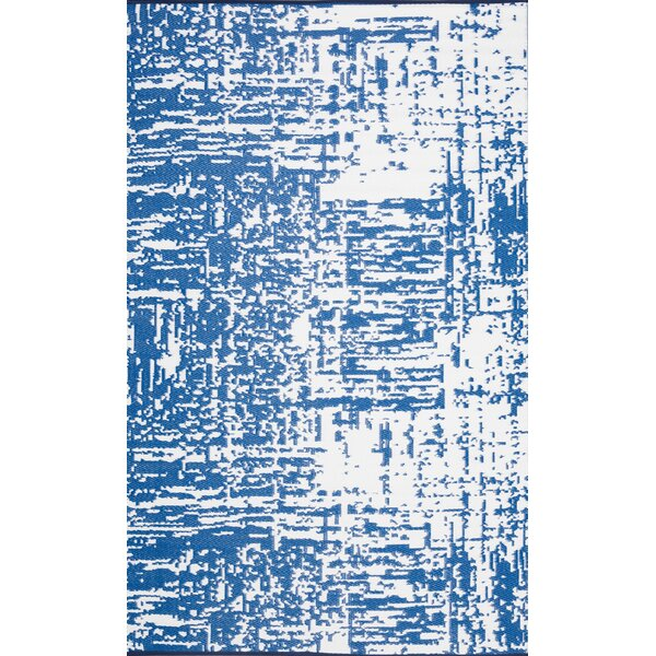Philo Abstract Gray Indoor/Outdoor Area Rug by Williston Forge