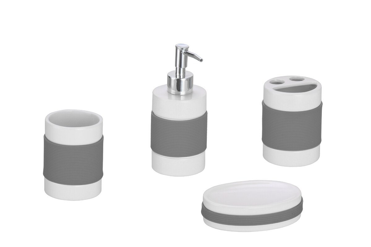 The Twillery Co Hardy 4 Piece Bathroom Accessory Set Reviews
