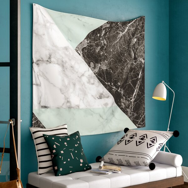 Marble Wall Tapestry by East Urban Home