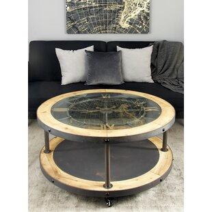 Savings Metal and Wood Clock Coffee Table ByCole & Grey