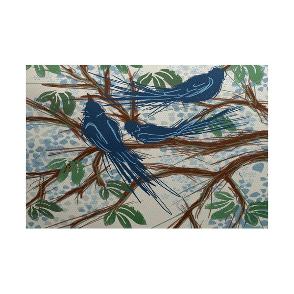 Ingaret Blue Indoor/Outdoor Area Rug by Alcott Hill