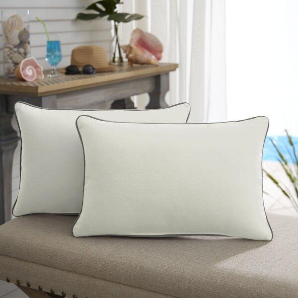 Abington Sunbrella Outdoor Lumbar Pillow (Set of 2) by Beachcrest Home