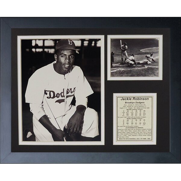 Jackie Robinson Framed Memorabilia by Legends Never Die