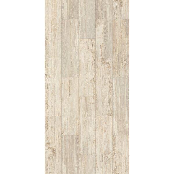 Tampico 7 x 24 Ceramic Wood Look Tile in Cream by Welles Hardwood