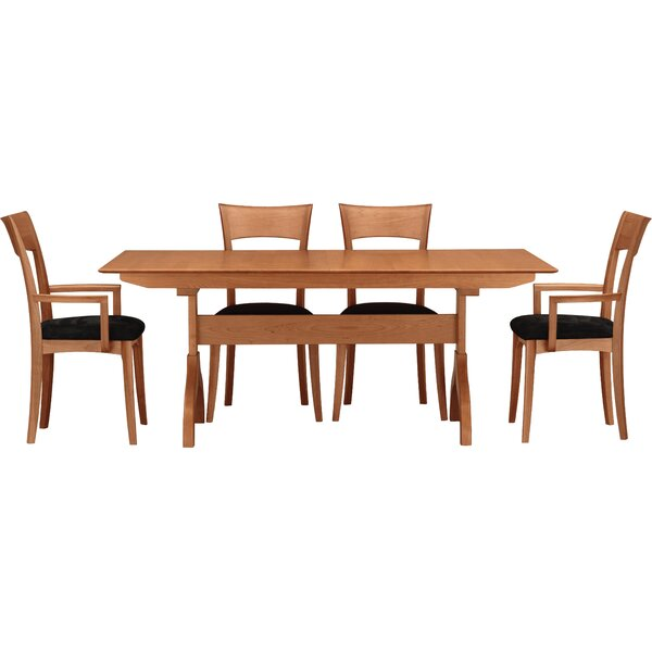 Sarah 5 Piece Extendable Solid Wood Dining Set by Copeland Furniture