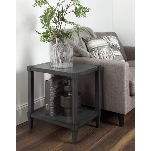 Gretchen Wooden Side Accent End Table With Storage By Breakwater Bay