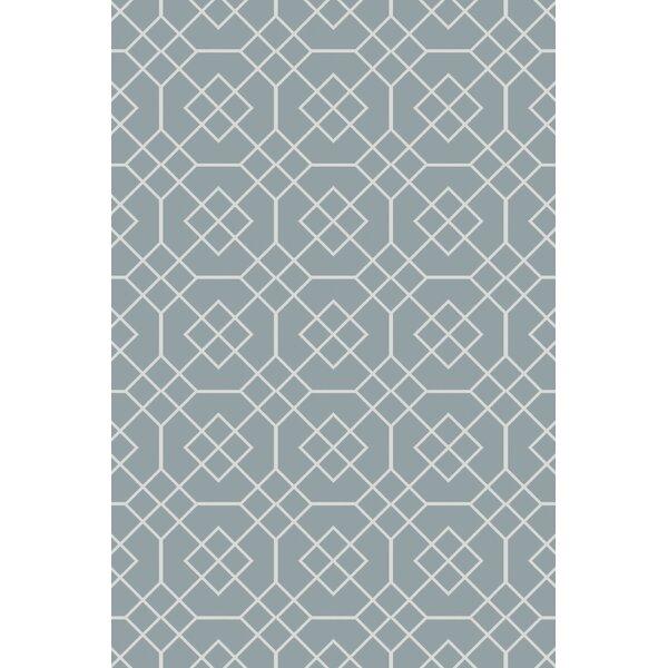 Freudenburg Teal Geometric Rug by Darby Home Co