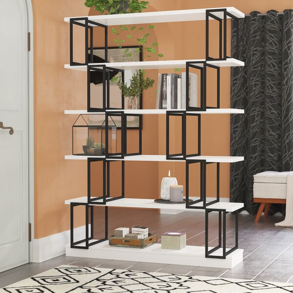 Sansbury Geometric Bookcase By Brayden Studio