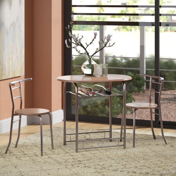 Shingadia Bistro 3 Piece Breakfast Nook Dining Set by Latitude Run
