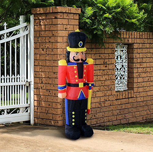 Nutcracker Toy Soldier LED Lighted Outdoor Air Blown Christmas Inflatable by The Holiday Aisle