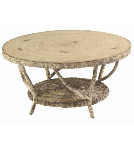River Run Wicker Coffee Table by Woodard