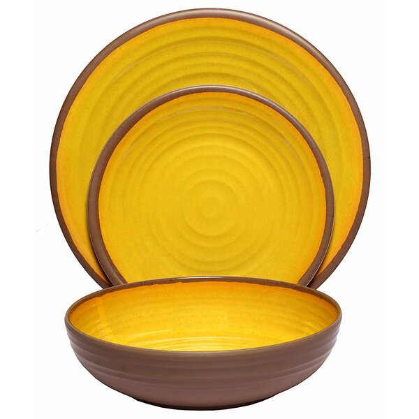 McPhillips Clay Melamine 12 Piece Dinnerware Set, Service for 4 by Bloomsbury Market