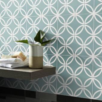 Ivy Hill Tile Oracle Alula Ceramic Mosaic Tile In Arctic Blue Wayfair