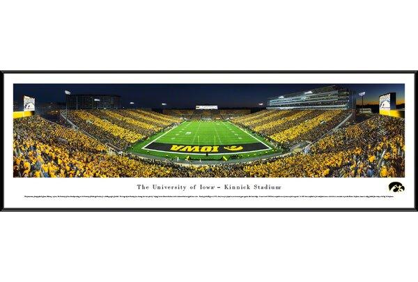 NCAA Iowa, University of - End Zone - Stripe by James Blakeway Framed Photographic Print by Blakeway Worldwide Panoramas, Inc