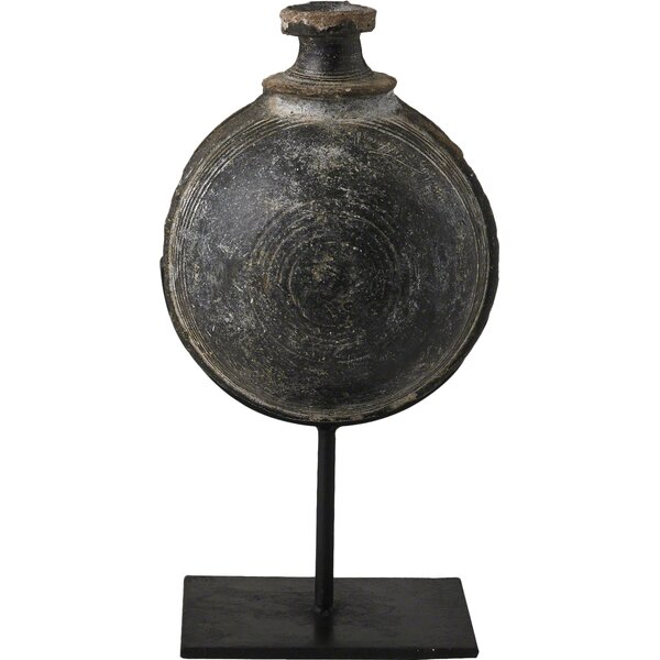 Antique Camel Water Pot on Stand Sculpture by Studio A Home
