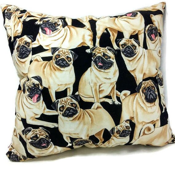 Pug Dog Throw Pillow by East Urban Home