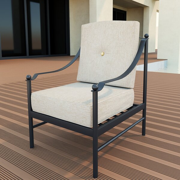 Wroten Patio Chair with Cushion by Red Barrel Studio