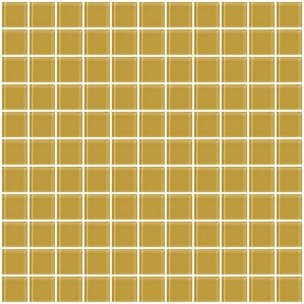 1 x 1 Glass Mosaic Tile in Honey Brown by Susan Jablon