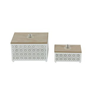 Affordable Price 2 Piece Metal Box Set By Cole & Grey
