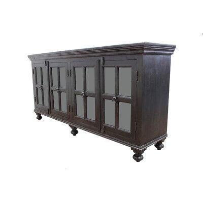 "Canora Grey Aula 72"" Wide Acacia Wood Sideboard"