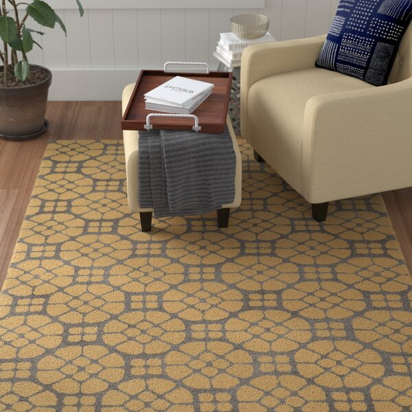 Formaran Hand-Tufted Gray/Butter Area Rug by Winston Porter