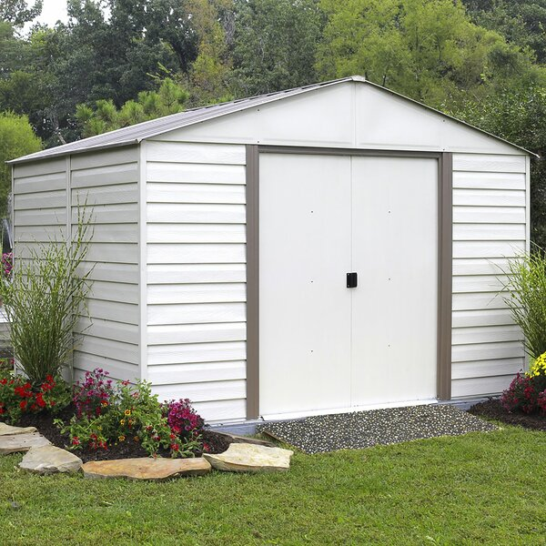 Milford 10 ft. 3 in. W x 12 ft. 2 in. D Metal Storage Shed by Arrow